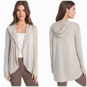 WHBM New Hooded Sweater Cardigan Cover Up Medium